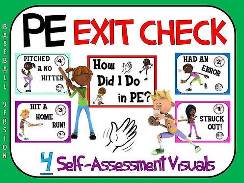 PE Exit Check- 4 Self-Assessment Visuals- Baseball Version