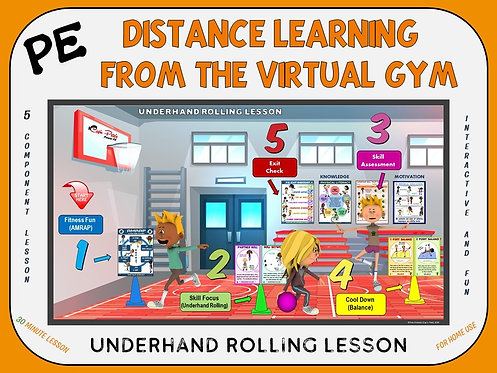 PE Distance Learning from the Virtual Gym- Underhand Rolling Lesson