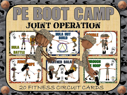 PE BOOT CAMP SERIES: Joint Operation- 20 Fitness Circuit Cards