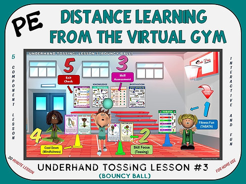 Distance Learning from the Virtual Gym- Underhand Tossing Lesson #3- Bouncy Ball