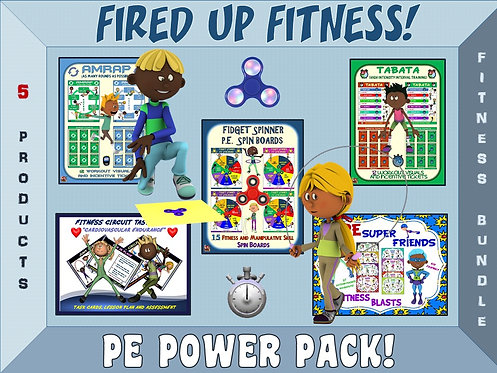 Fired up Fitness: 5 Product PE Power Pack BUNDLE