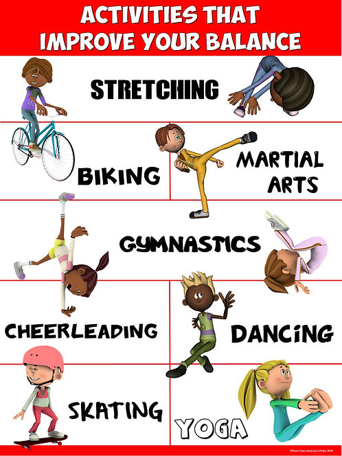 PE Poster: Activities that Improve your Balance