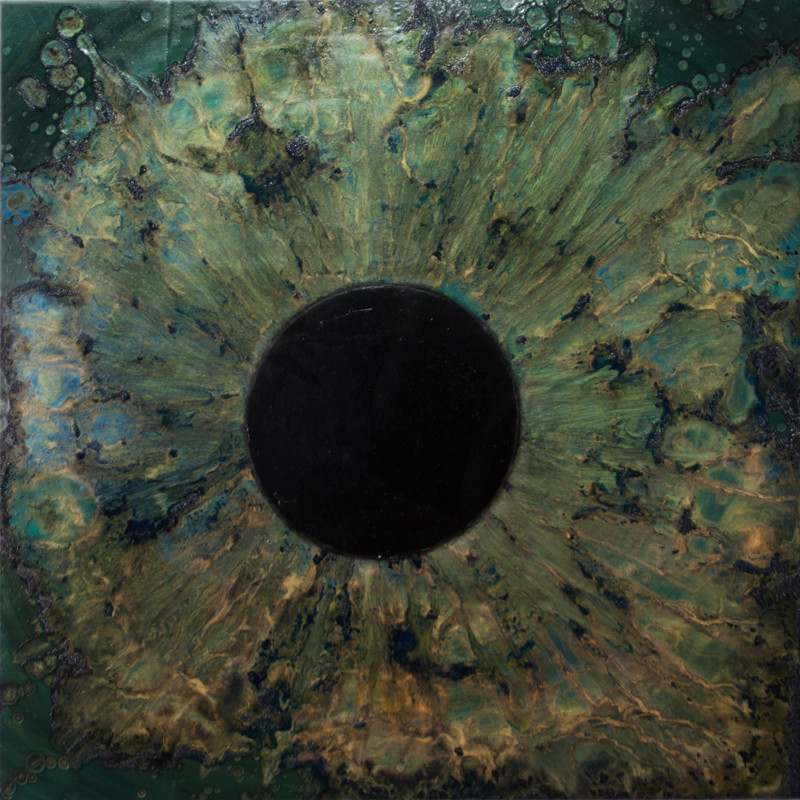 Blue Iris, Black Hole 36 x 36 inches oil and metallic pigment on panel SOLD