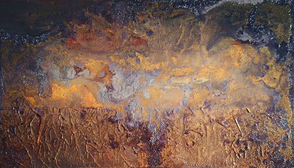 Some Day, Far Away 12 x 24 inches oil and metallic pigment on panel SOLD
