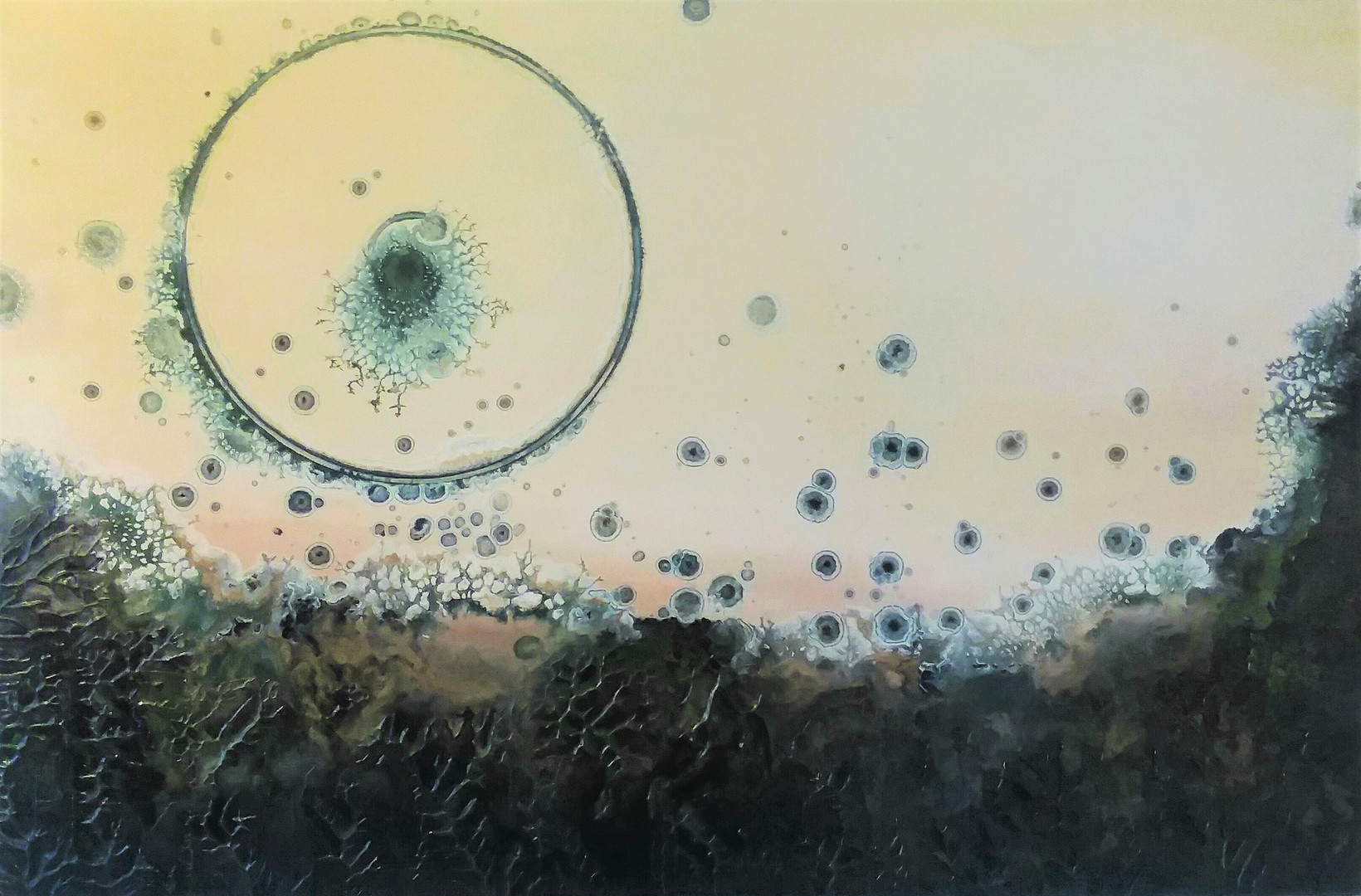 """""""Portal"""" 24 x 26 inches oil and metallic pigment on panel"""