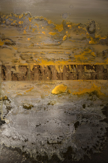 Lost Canyon 36 x 24 inches oil and metallic pigment on panel