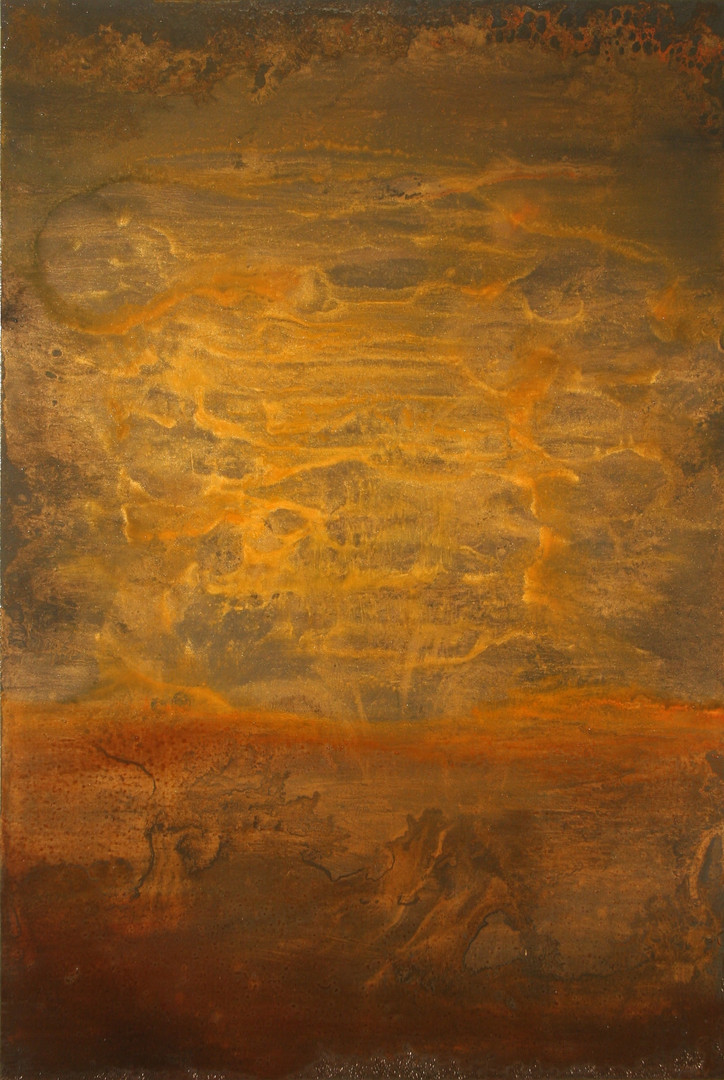 Through the Darkness 36 x 24 inches oil and metallic pigment on panel SOLD