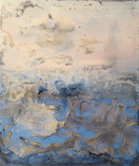 Freezing Forms 24 x 18 inches oil and metallic pigment on canvas SOLD
