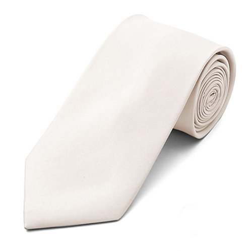 Lord R Colton Pearl White Satin Silk Necktie