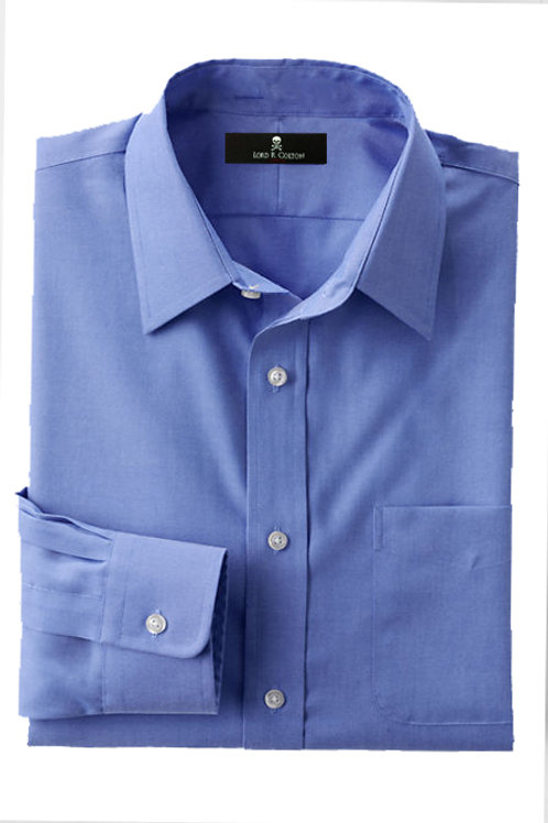 Lord R Colton French Blue Pinpoint Dress Shirt