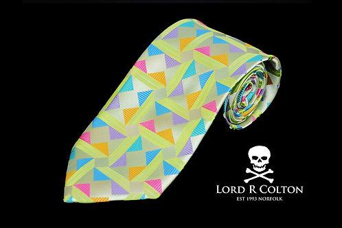 Lord R Colton Masterworks Taormina Lime Woven Necktie