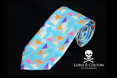 Lord R Colton Masterworks Taormina Sky Woven Necktie
