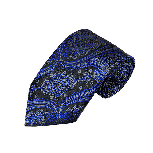 Lord R Colton Studio Royal Charcoal Tapestry Necktie