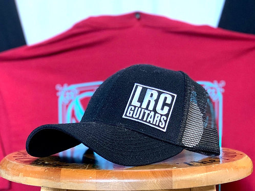 LRC Guitars Block Logo Black Trucker Snapback Hat