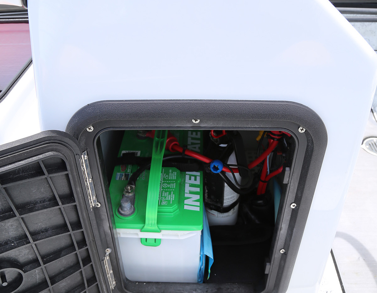 Center Console Battery Storage