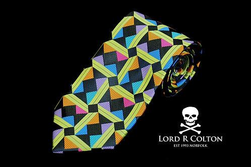 Lord R Colton Masterworks Taormina Black Woven Necktie