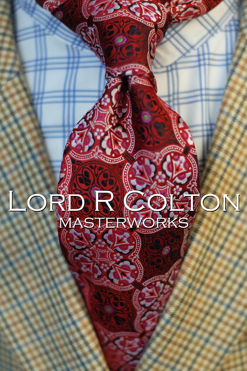 Lord R Colton Masterworks Tangier Ruby Woven Necktie