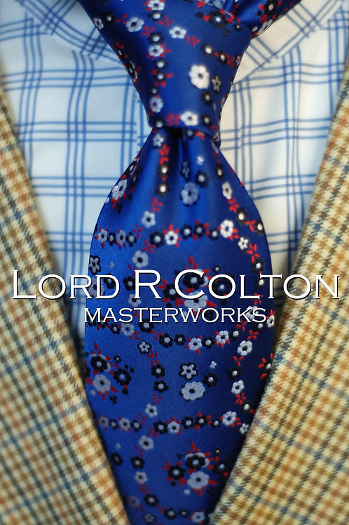 Lord R Colton Masterworks London Midnight Floral Woven Necktie