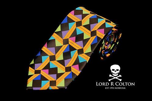 Lord R Colton Masterworks Taormina Brown Woven Necktie
