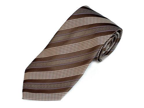 Lord R Colton Studio Autumn Brown Stripe Necktie
