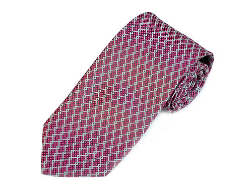 Lord R Colton Studio Magneta Gray Woven Necktie