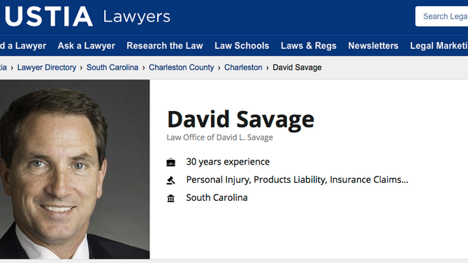 David Savage added to the JUSTIA Lawyers Directory
