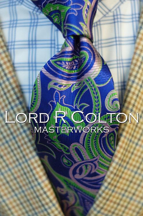 Lord R Colton Masterworks Dubai Amethyst Paisley Woven Necktie