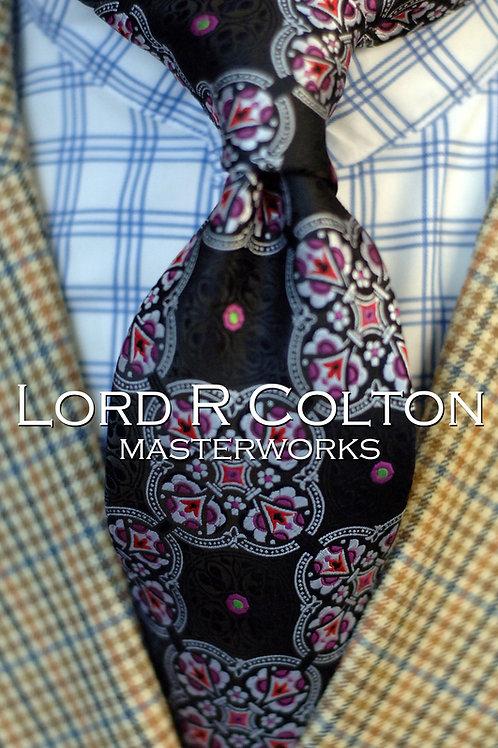 Lord R Colton Masterworks Tangier Onyx Woven Necktie