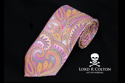 Lord R Colton Masterworks Bolzano Silver Lav Woven Necktie