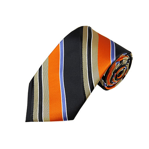 Lord R Colton Studio Orange Satin Stripe Necktie