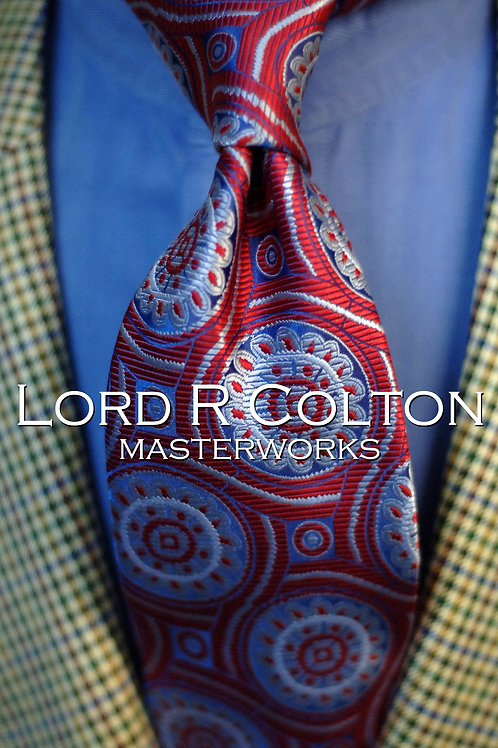 Lord R Colton Masterworks Lisbon Red Blue Woven Necktie