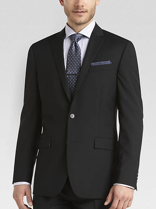 Lord R Colton Black Hampshire Glenn Super 150 Wool Suit