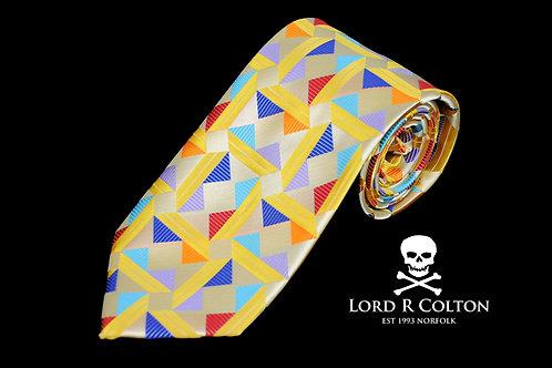 Lord R Colton Masterworks Taormina Gold Woven Necktie