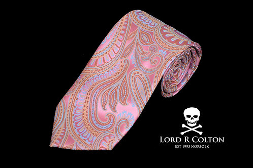 Lord R Colton Masterworks Bolzano Pink Gold Woven Necktie
