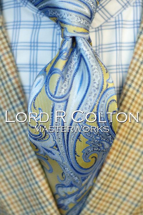 Lord R Colton Masterworks Sahara Ice Paisley Woven Necktie