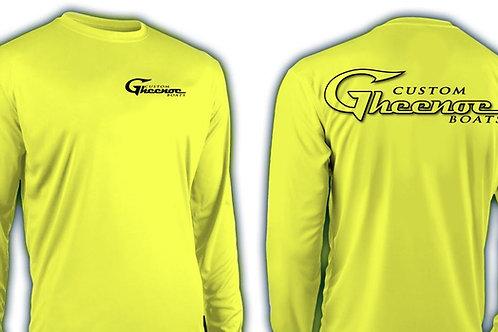 Custom Gheenoe Logo Bright Yellow Micro L/S Shirt