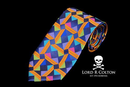 Lord R Colton Masterworks Taormina Blue Woven Necktie