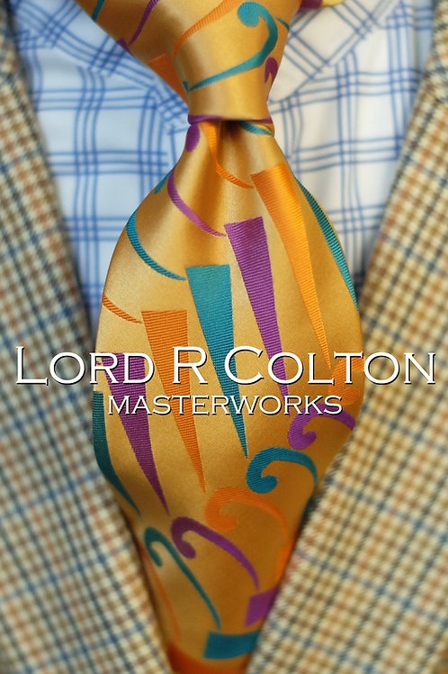 Lord R Colton Masterworks Lawrence of Ivey Gold Woven Necktie