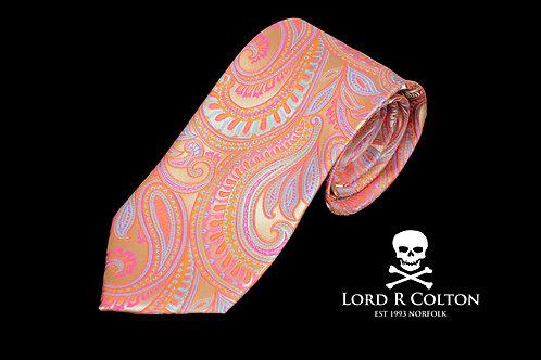 Lord R Colton Masterworks Bolzano Coral Pink Woven Necktie