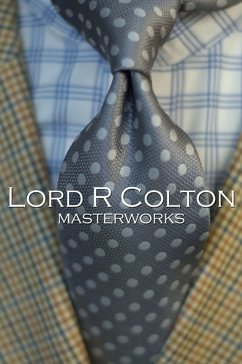 Lord R Colton Masterworks Moscow Stone Dot Woven Necktie