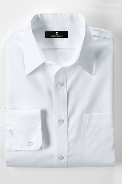 Lord R Colton White Pinpoint Dress Shirt