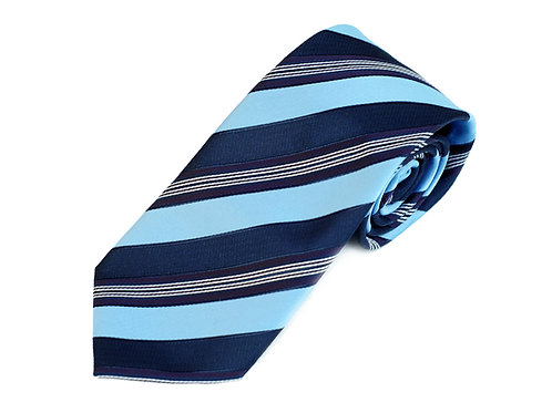 Lord R Colton Studio Sky Navy Stripe Necktie