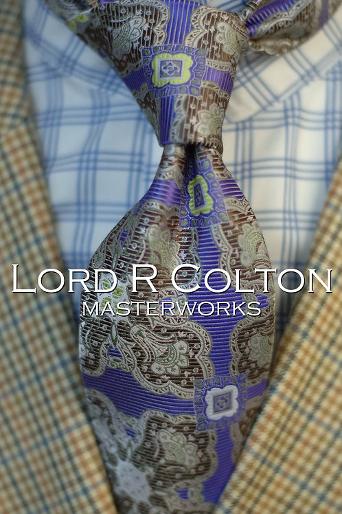 Lord R Colton Masterworks Cape Horn Amethyst Woven Necktie