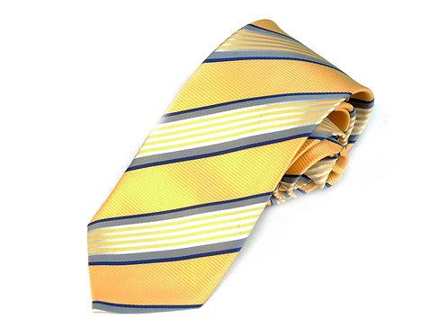 Lord R Colton Studio Yellow Pearl Stripe Necktie