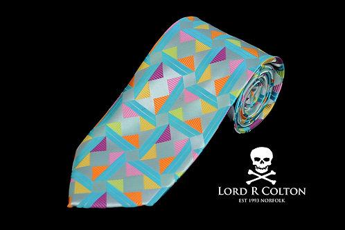 Lord R Colton Masterworks Taormina Aqua Woven Necktie