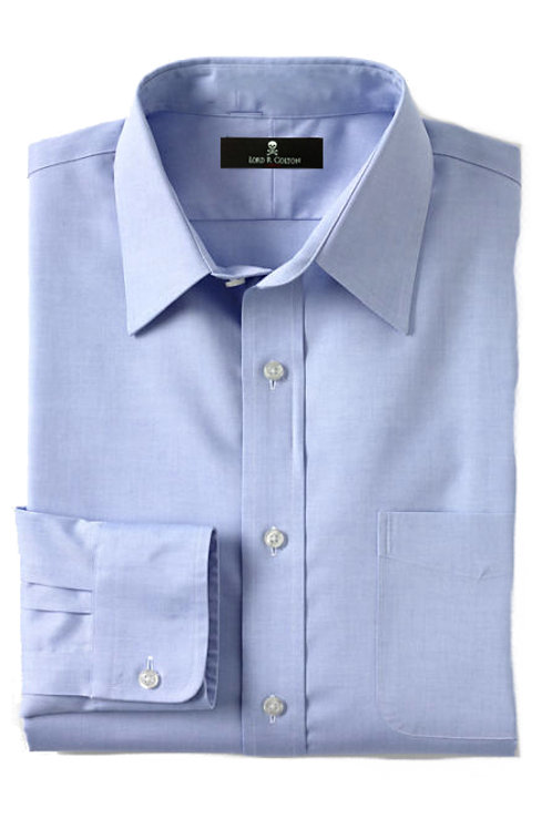 Lord R Colton Light Blue Pinpoint Dress Shirt