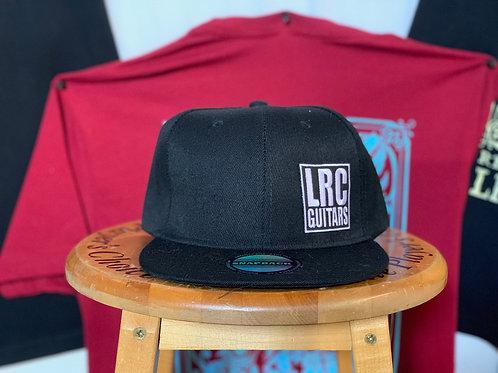 LRC Guitars Block Logo Black Flat Bill Snapback Hat