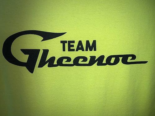 Custom Gheenoe Yellow Team Logo Tee