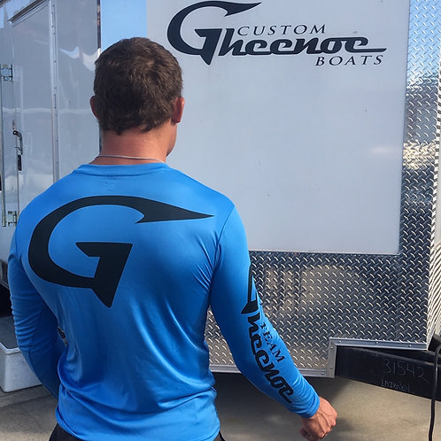 Custom Gheenoe Blue G Hook Logo Micro L/S Shirt