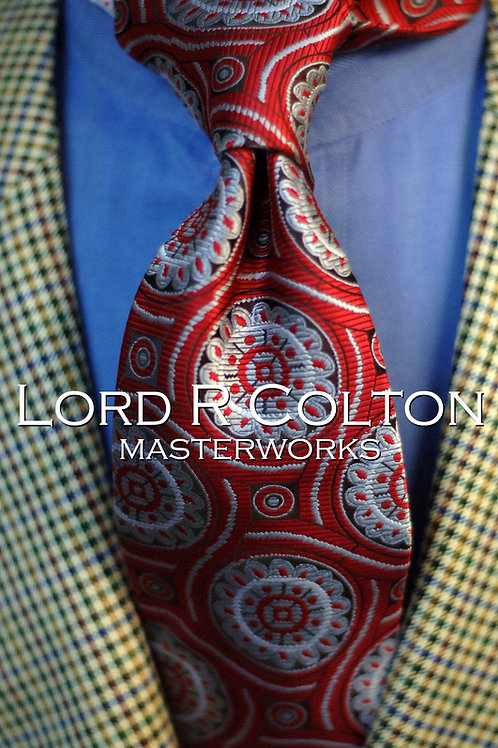 Lord R Colton Masterworks Lisbon Red Gray Woven Necktie